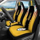 Pittsburgh Steelers FAN'S Front Seat Cover Universal Fit Car Seat Covers Set of2 $43.69 USD on eBay