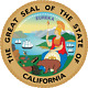 California State Seal Round Mouse Pad  (8 diameter)