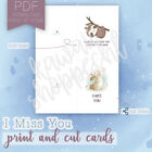 Cute Any Occasion Greeting Cards BUJO inspiration - Print and Cut at Home
