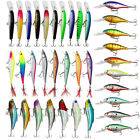 5 Types Hard Bait Fishing lures Kit Minnow Crankbait bass Lure with Treble hooks