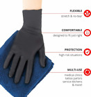 50, 100 or 300 Black Nitrile - PVC & Latex free Gloves Size M L XL XXL 2XL