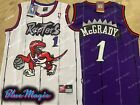 New Tracy McGrady Throwback Swingman Jersey #1 Toronto Raptors White // Purple