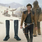 Solo A Star Wars Story Cosplay Han Solo Leather Boots Shoes Custom Made $51.78 USD on eBay