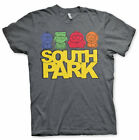 South Park Sketch Poster Stan Kyle Kenny and Cartman Official Grey Men T-shirt