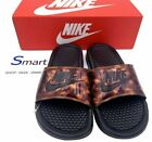 NIB SIZE 6 WOMEN Nike Benassi JDI Logo Slides BLACK Rose Sandals Tortoise Shell $34.99 USD on eBay