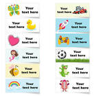 42x Personalised Waterproof School Sticky Children Kids Name Labels Stickers E10