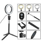 bluetooth Tripod Selfie Stick With LED Ring Fill Light with Stand Lighting Kit