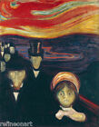 Edvard Munch - Anxiety Giclee Canvas Print repro