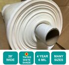 4 Year 6 Mil WHITE Plastic Greenhouse Poly Film 28 ft. Wide *Choose Your Length*