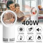 400W Space Heater Electric Heater Indoor Portable Air Warmer Bladeless Warm Fan