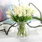 Beautiful Artificial Real Touch Tulip Stems White/Pink/Purple Bunch of 10