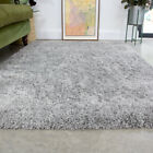 Cosy Soft Silver Grey Shaggy Rug Non Shed Deep Living Room Rugs Long Hall Runner
