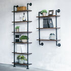 iKayaa 3/6-Tier Rustikale Wandregale Holzbretter DIY Storage Floating Shelf K5X0