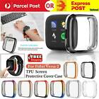 For Fitbit Versa 2 2020 Silicone Shell Case Screen Protector Frame Full Cover