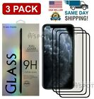 3x Curved For iPhone XR MAX 11 PRO Full Coverage Tempered Glass Screen Protector