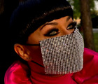 FASHION CLUB BLING RHINESTONE CRYSTAL FACE MASK COVER THREE COLOURS UK SELLER