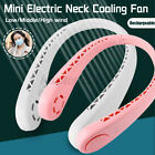 Rechargeable Dual Air Cooler Mini Electric Portable Sport USB Hanging Fan 1600mA