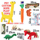 Pet Dog Puppy Cat Cotton Braided Rope Toys Durable Tug Toy Healthy Teeth