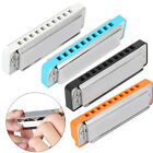 Professional Blues Harmonica 10  Hole Mouthorgan Resin Comb Beginner Gifts New