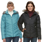 """New Womens Columbia """"Icy Heights"""" Water-Resistant Hooded Winter Down Jacket"""