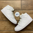 Nike Air Jordan 1 Mid 'Triple White' Men's Basketball Shoes 554724-130