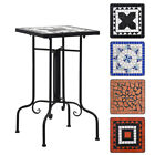 Mosaic Side Table Ceramic Garden Coffee Table Outdoor Furniture Café Square Top