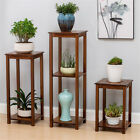 bamboo plant flower stand sofa side end table living room bonsais display decor