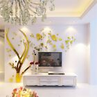 3d Silver Family Branch Wall Stickers Home Wall Decals Living Room Mural Decor