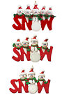 Personalized Christmas Tree Decoration Ornaments Snow Word Red 3,4,5 Members