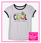 *NWT* JUSTICE GIRLS SIZE 7 8 10 IT'S ALL COOL BY THE POOL FRIENDS RINGER TEE TOP