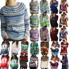 Women Long Sleeve Pullover Blouse Sweatshirts Sweater Baggy Jumper Knitted Tops