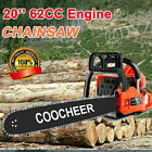 COOCHEER 62CC 20 Gas Chainsaw Handed Petrol Chain Woodcutting 2 Cycle 4HP B v