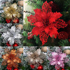 Christmas Glitter Hollow Flowertree Hanging Ornament Xmas Party Home Decor New