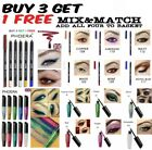 PHOERA WATERPROOF GEL EYELINER PENCIL PEN GLITTER MAKEUP pink silver red blue