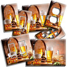 BEER BARREL MUG GLASS HOPS LIGHT SWITCH OUTLET WALL PLATE KITCHEN DINER HD DECOR