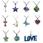 Fashion Stainless Steel Changing Color Resin Women Pendant Sweater Necklace