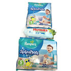 Pampers Splashers Diapers 2 Packs Swim Disposable 1 Huggies Wipe Small Med Large