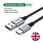 UGREEN USB Type C Male to USB A Quick Charge Fast Charge Cable 3A QC 3.0 Braided