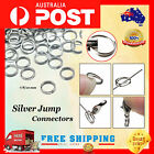 Split Ring Double Loop 7/8/10/12mm X 100 Silver Plated Findings Connector Craft