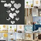 Home 3d Mirror Effect Removable Wall Sticker Art Mural Decal Dining Home Decor