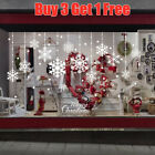 Merry Christmas Removable Window Snowflakes Stickers Art Decal Home Shop Decor