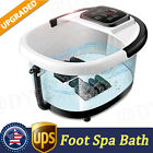 Foot Spa Bath Massager with Heat Bubbles Vibration Massage Rollers Temp Timer.
