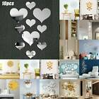 Home 3d Mirror Effect Removable Wall Sticker Mural Decal Dining Home Room Decor