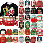 * Men WomenCouple Matching ▪ Jumper Knitted Sweater Pullover Ugly Top