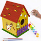 Glintoper Art Craft Wood Toys For Kids, Diy Bird House Kit Painting Puzzle Diy W photo