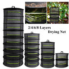 Fodable 2/4/6/8 Layer Herb Drying Net Plant Hanging Mesh Dryer Racks with Zipper