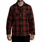 Sullen Men's Rosewood Flannel Long Sleeve Buttondown Shirt Black/Burgundy Clo...