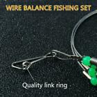 Stainless Steel Trace Wire Leader Fishing Line Leaders With Swivel New & V1b9
