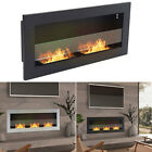 Wall Mounted/Insert Bio Ethanol Fireplace Wide Glass Biofire Fire Burner Warmers