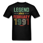 Legend Since February 1991 Retro Birthday Gift funny Unisex Classic T-Shirt